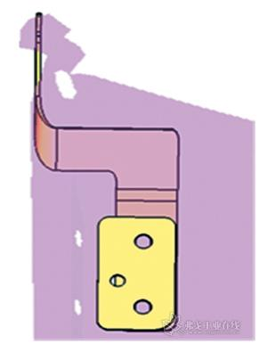 图7 发动机罩铰链及加强板改进后结构-发动机前罩板铰链机构的CAE高清图片