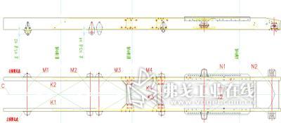 6×2重型牵引车梯形大梁车架设计图片