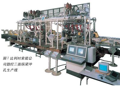 >>汽车底盘纵梁数控冲孔生产线的应用与发展   由于转塔式模具结构