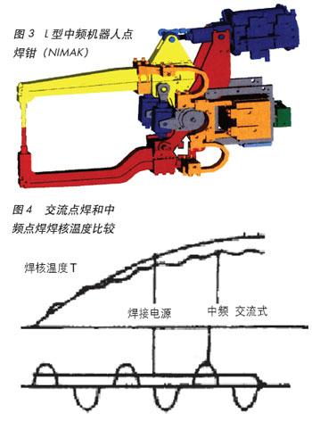 中频点焊具有焊接电流波形的广泛设置.
