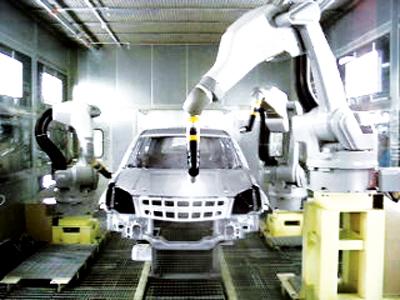 主要作用 实时跟踪待喷涂车身的运行速度,并将位置信息传递给机器人喷
