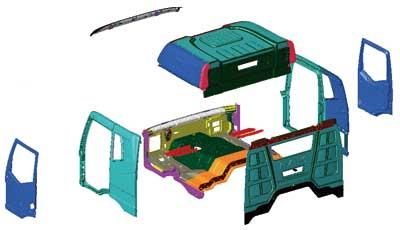 汽车驾驶室构造图 汽车驾驶室结构图解 汽车驾驶室图解构