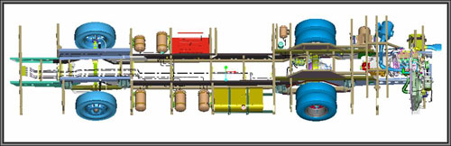 动力城市公交车制动与管路安排-建立适应产业发展的课程体系 多途高清图片
