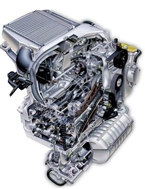 卧式对置气缸柴油发动机
