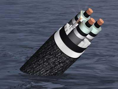 该电力输出电缆合同包括4条150kv交联聚乙烯海底平行电缆的设计,制造