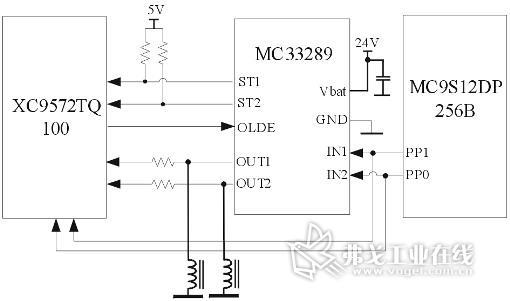 6电磁阀驱动及其故障检测电路   汽车制动系统中电磁阀的工作