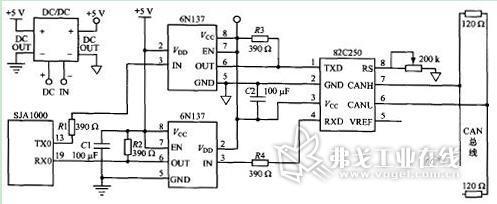 典型的can总线接口电路原理图