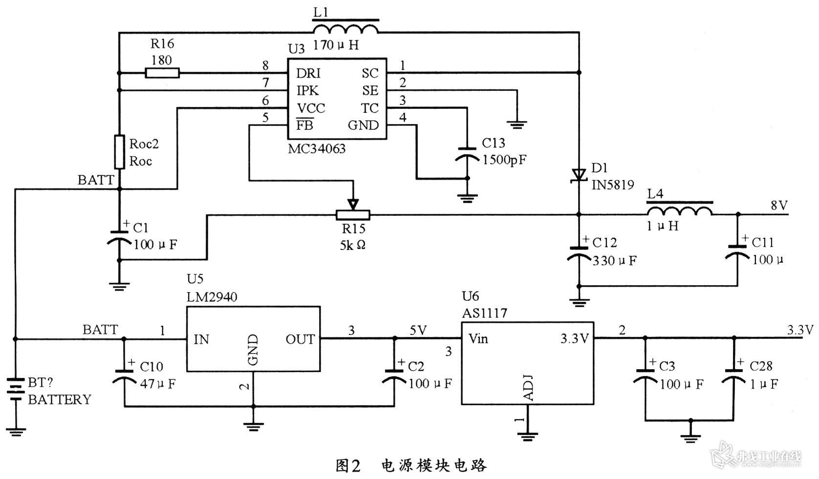 电源模块电路原理图