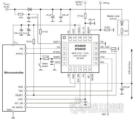 图2ata6628/ata6630应用电路图
