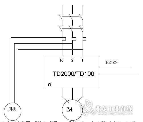 工业洗衣机电气接线原理示意图
