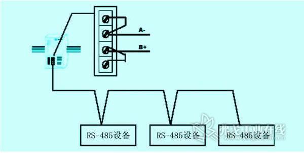 电阻,pb-m网桥已内置终端电阻,只需用外接短接线将其接入rs-485网络