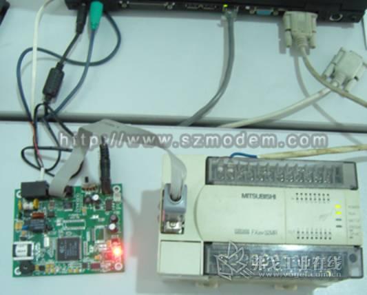 >>三菱fx系列plc通过modem远程维护fx2n