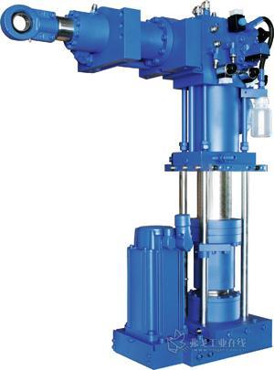 液压系统改善电吹塑机床的合模装置图片