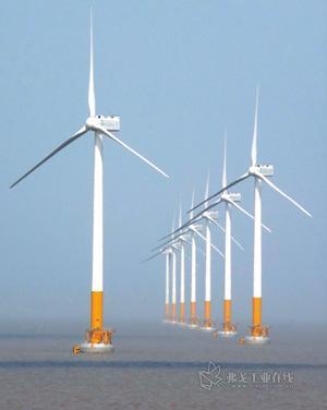 上海东海大桥风力发电场是中国首座海上风力发电场,安装了34台