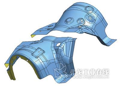 又属于结构复杂的骨架类结构件,其成形模具的开发制造是汽车车身制造