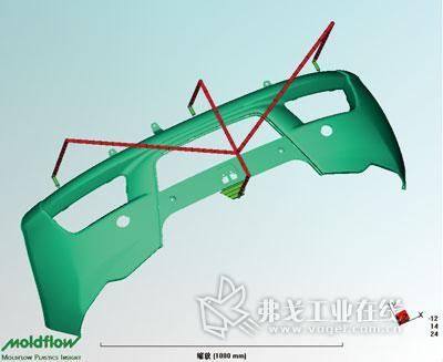 保险杠注塑工艺分析及注射模设计