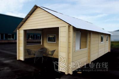 三角洲木制品公司生产的木塑复合房屋因其特别
