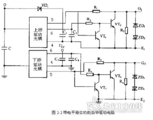 自举电路无这一功能,但可以通过加几个无源器件来实现负压的功能,如图