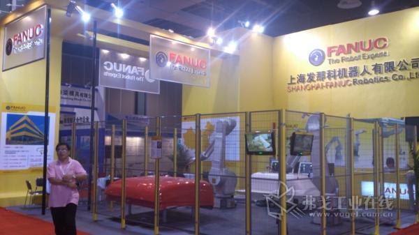 第18届中国国际复合材料工业技术展览会上海发那科机器人有限公司展台