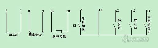 变频器分别控制两个电机的升降和平移
