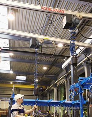 科尼铝制轻型起重机系统