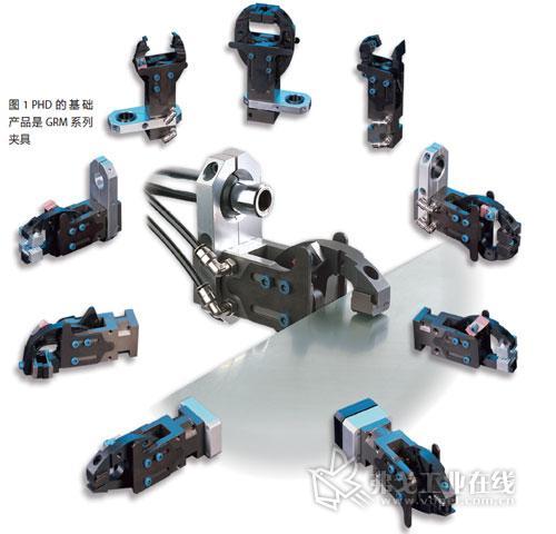 它拥有全系列的各类元件,包括气缸,挡料气爪,气爪,线性滑台,旋转气缸图片