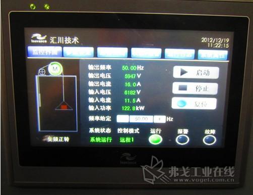 图10 变频器正转运行