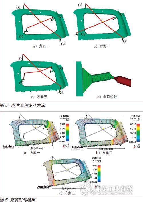 该制件上部与汽车顶棚配合,下部与后侧围下装饰板配合,因此对产品尺寸