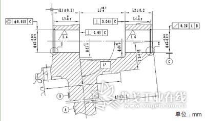 转向节卧加工序液压夹具设计