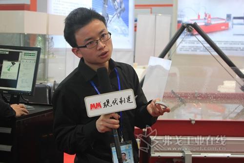 2013 MWCS访南京傲马水射流有限公司销售工程师包源平先生