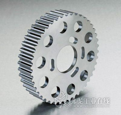 采用热固性塑料为凸轮轴驱动系统制造的齿形皮带轮原型(图片来自威克迈动力系统部件公司)