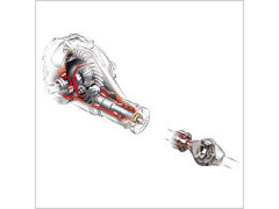 差速器半轴齿轮与传动轴(万向节轴)