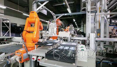 abb机器人自动装配线