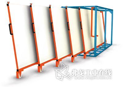 存放金属钢筋的垂直托盘货架_MM金属加工网余同板材图纸图片
