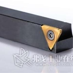带中心螺钉的三刃切槽刀片