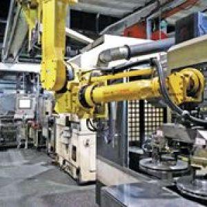 引入桁架机器人的制动盘自动线