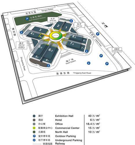 ▲国家会展中心平面图(点击查看大图)