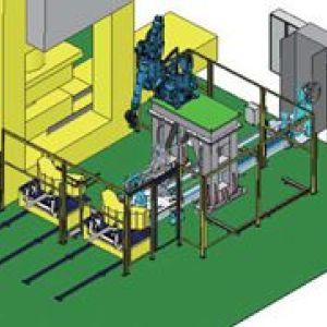 机器人在冲压生产线中的自主集成应用