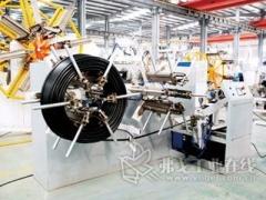 为高速管材生产线打造全自动管材收卷机