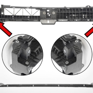 对注塑成型的SUV前端支架进行局部加强