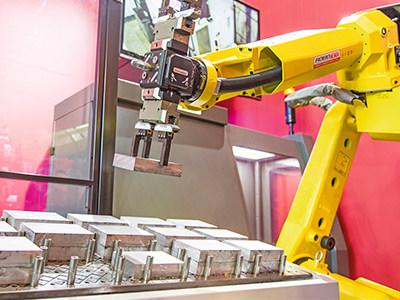 机床和机器人作为一个团队进行作业