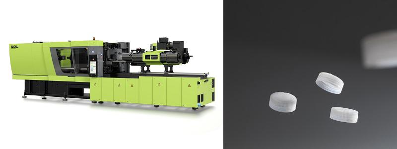 恩格尔的e-cap系列全电动注塑机用于生产饮料瓶盖
