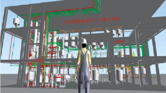 图2 中药智能制造三维全景设计图