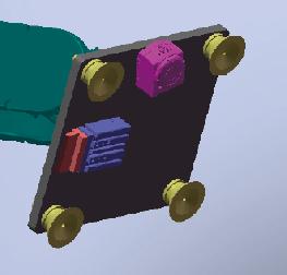 图4 取箱机构设计