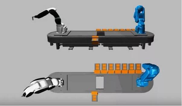 SuperTrak仿真工具甚至考虑到了机器人同步