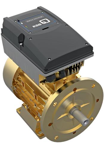 """一个微型变频器加上一个Supreme电动机便形成了一个全工业4.0式的适用的""""我的流量技术""""智能驱动技术解决方案"""