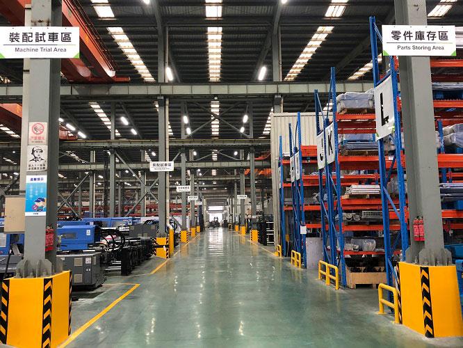 基于目前产能的限制,富强鑫(宁波)机器制造有限公司对有限的工厂占地进行了精细规划