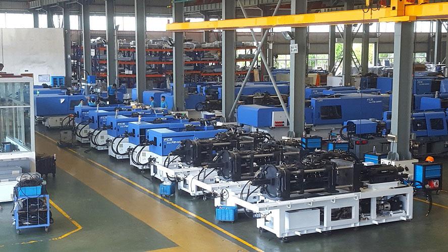 2017年,富强鑫(宁波)机器制造有限公司实现了从双色到三色、从三色双工位到三色三工位的技术升级,从而赋予了机器更多的功能和灵活性