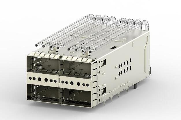 TE Connectivity zQSFP+堆叠式Belly to Belly笼