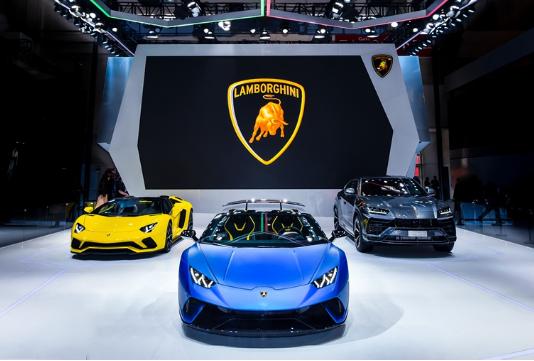 兰博基尼汽车有限公司全系三条产品线2018北京国际汽车展览会